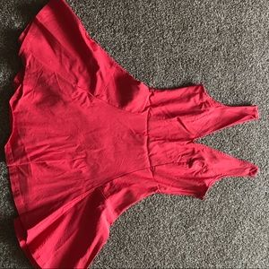 Stretchy and comfy red Nasty Gal dress